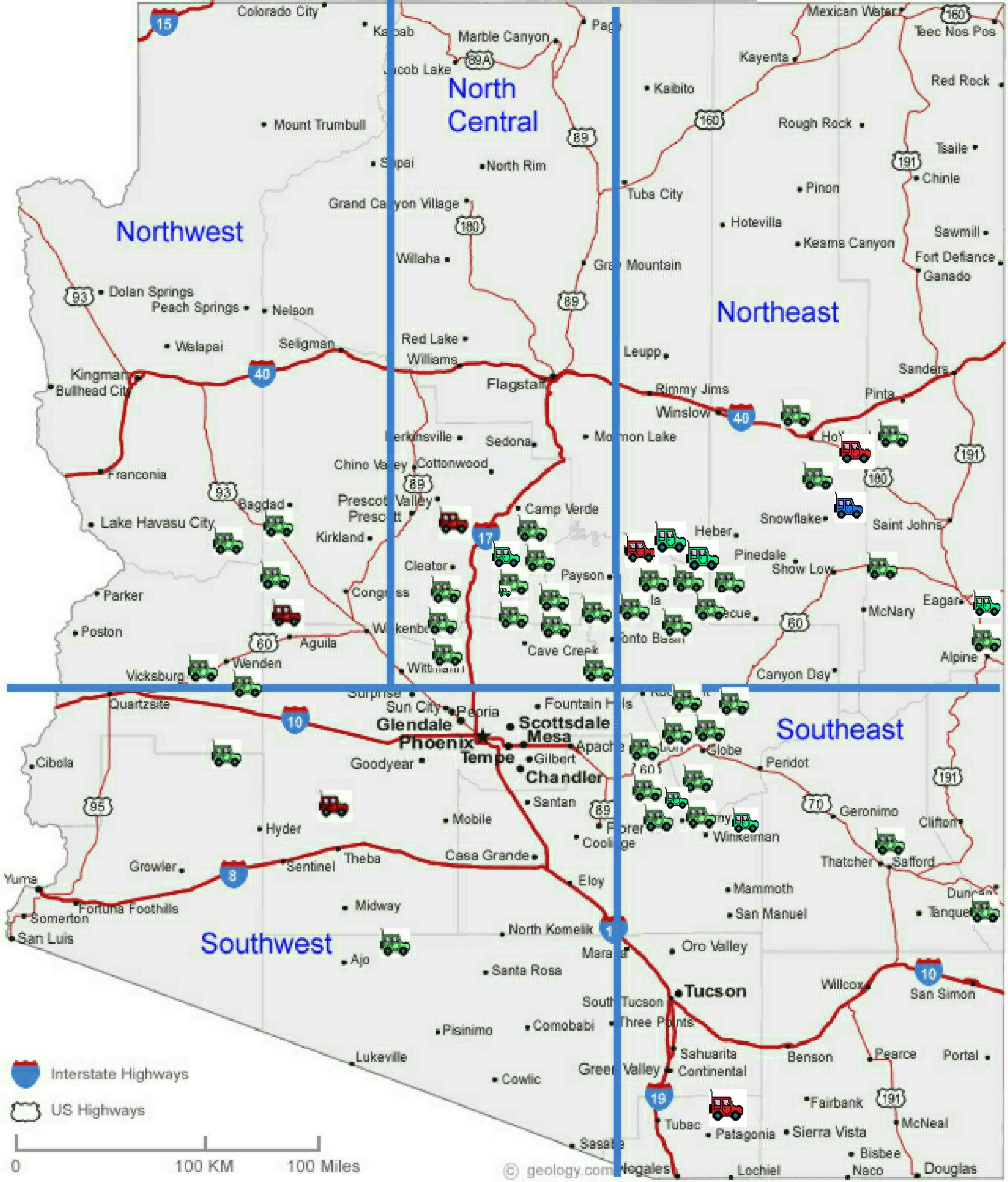 Jasper Arizona Map